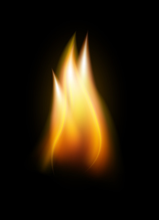 Realistic flame tongue element Stock Photo