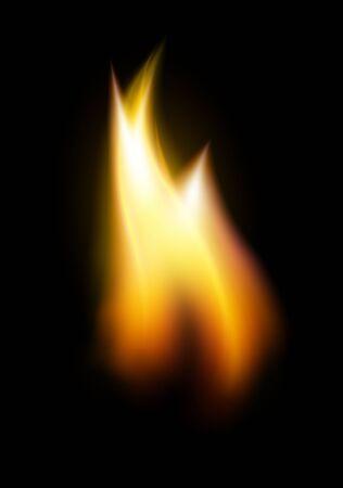 Orange flame tongue element