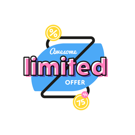 Discount tag with special offer sale sticker. Stock Photo