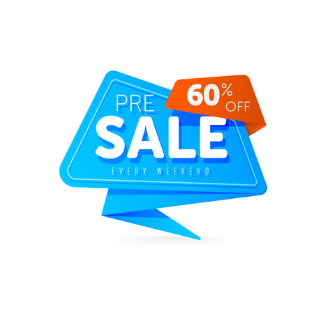 Special offer sale tag discount symbol Stock Photo
