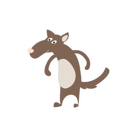 Timber wolf personage illustration