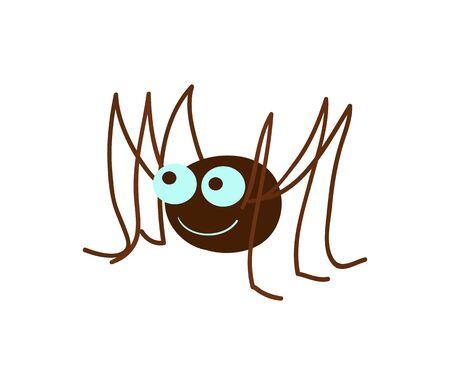 Funny spider cartoon illustration Banque d'images - 98707261
