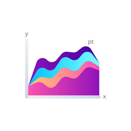 Investment indicators graph isolated on white background. Infographic element for business presentation vector illustration. Ilustracje wektorowe