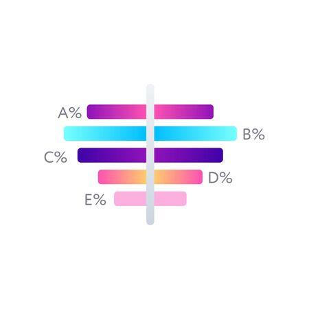 Financial indicators graph isolated on white Ilustracje wektorowe