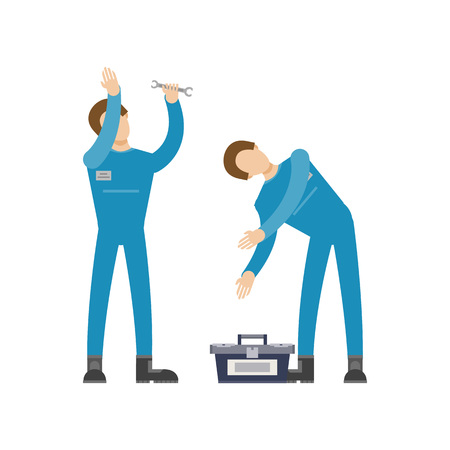 Auto mechanics in uniform icon Vectores