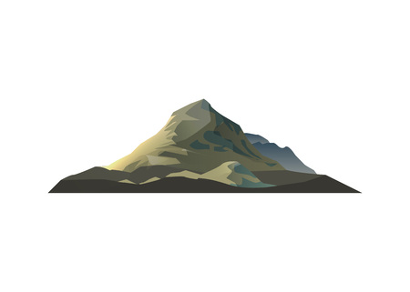 High mountain isolated vector icon