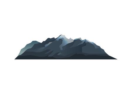 Mountain range isolated vector icon