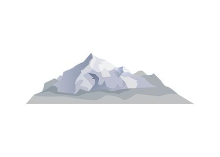 Alpine mountain isolated vector icon