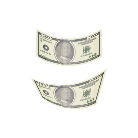 Dollar money isolated isometric icon Ilustrace