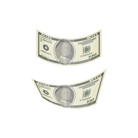 Dollar money isolated isometric icon Illustration