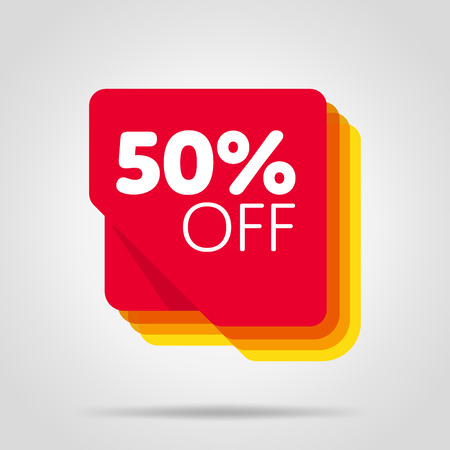 Special offer sale red tag isolated Illustration