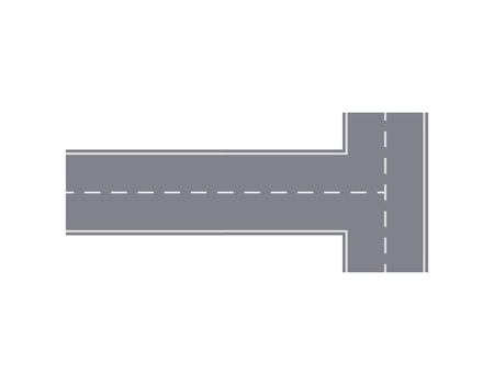 Intersection road isolated street map segment.