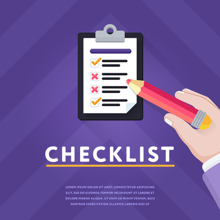 Checklist with unfinished business