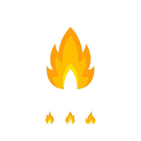 Colorful shaped flame element on white 일러스트