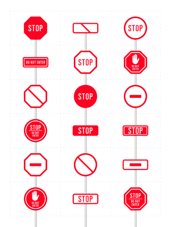 Set of icons for prohibition