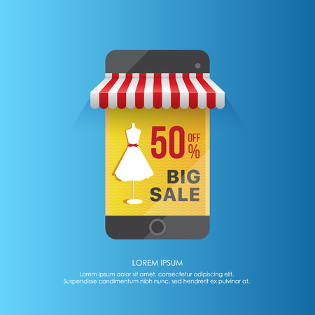 Smartphone vector design showing sale Illustration