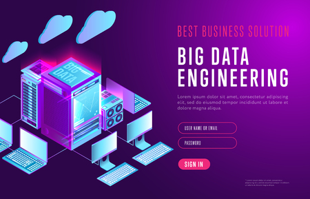 Bright design of big data webpage
