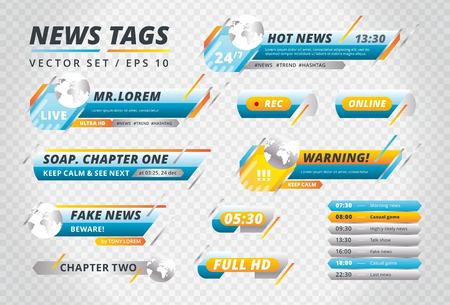 Collection of news tags