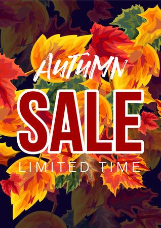Bright design of seasonal sale poster