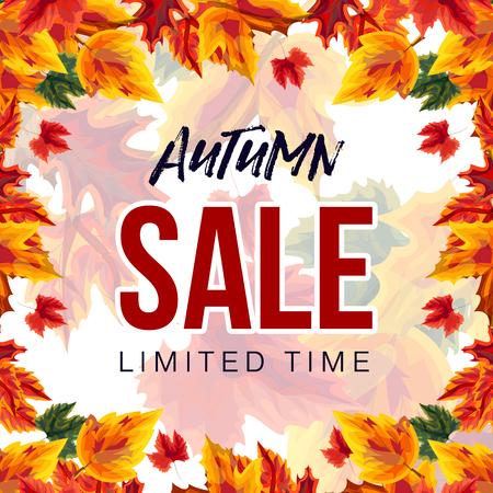 Modern banner for autumn sale