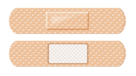 Vector element of bandage stripe from both sides on white background Standard-Bild - 114779799