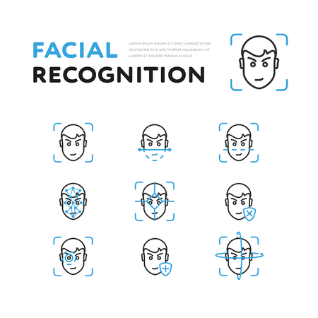 Set of viewer for facial recognition