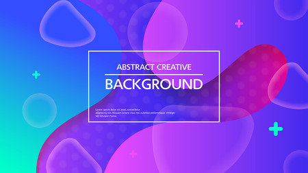 Contemporary vector backdrop with bright colorful abstraction and message box