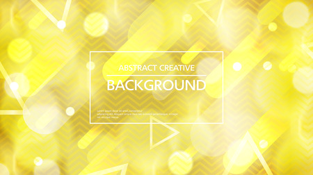 Bright sparkling background with abstract shapes and lights in gold