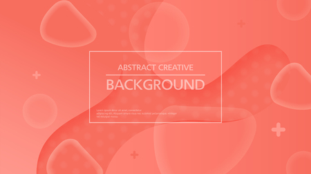 Modern background of red color with abstract figures in shadows Ilustração