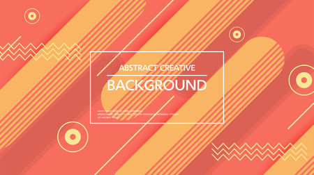 Colorful simple background with abstract layout of figures in red and yellow shades