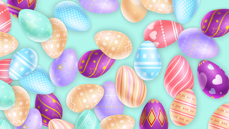 Collection of ornamental Easter eggs