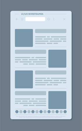 Design of modern web page with various blank publications
