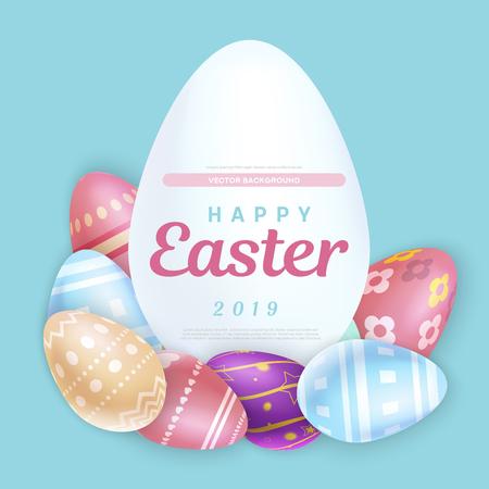 Easter writing on egg