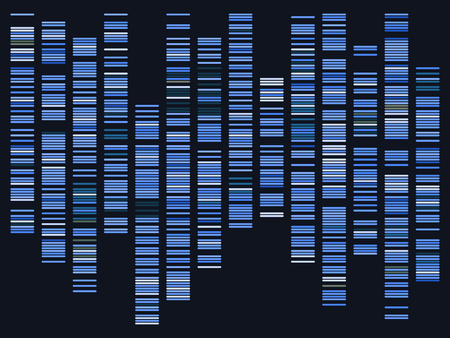 Genomic data. Dna, atom, neurons. Scientific molecule background for medicine, science technology chemistry with genomic data. Vettoriali