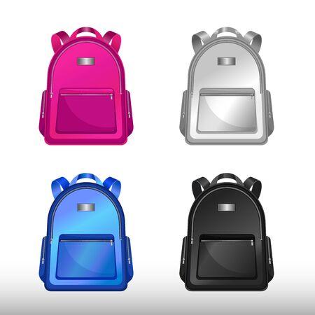 Icono de vector aislado de bolso de escuela