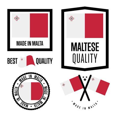 Ensemble de label de qualité de Malte pour les marchandises