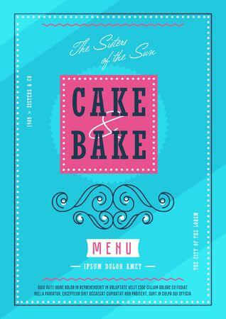 Bakery menu design template vectror