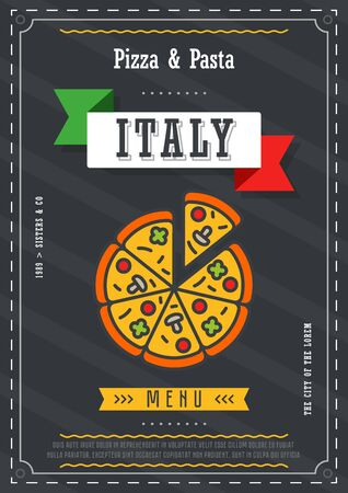 Fast food menu design template vectror Illustration