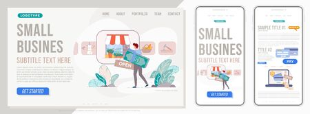 Small business website. Landing page template