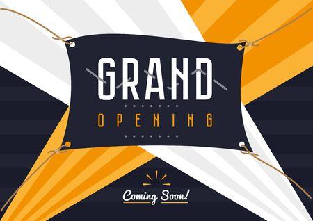 Grand opening celebration ceremony banner Stock Photo