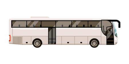 City bus for transportation on white background Ilustración de vector