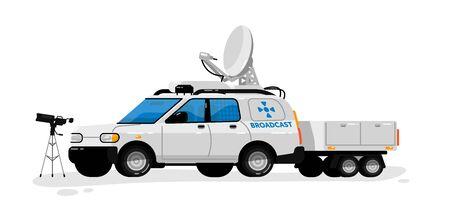Broadcast technology. Isolated media broadcasting