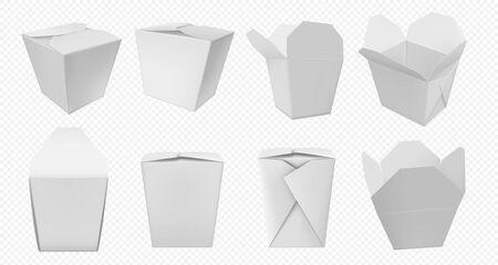 Chinese food box. Takeaway food package template