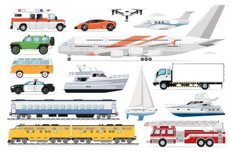 Public transport set. Passenger vehicle