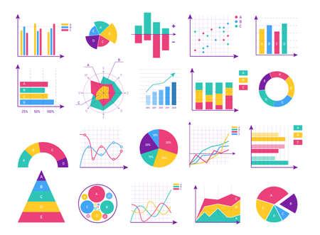 Presentation business infographic isolated set Vektoros illusztráció