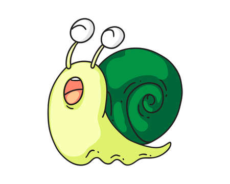 Snail icon. Isolated cute snail cartoon character 일러스트
