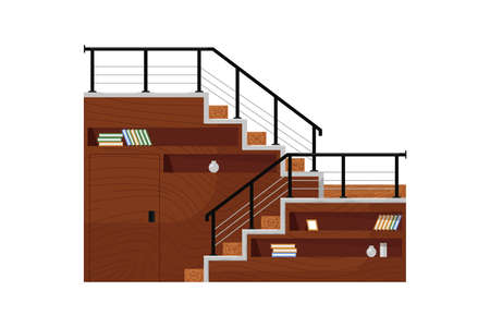 Functional home staircase. Isolated staircase