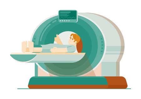 Mri scanning or computer tomography diagnostic method Ilustracja