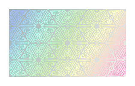 Holographic texture with geometric foil tracery