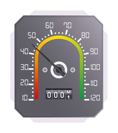 Digital speedometer with speed and motor mile scale